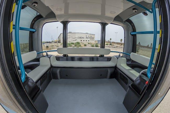 Local Motors Phoenix Arizona Olli Self Driving Bus Autonomous 3D printed Jay Rogers