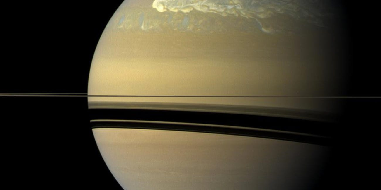 saturn northern hemisphere storm