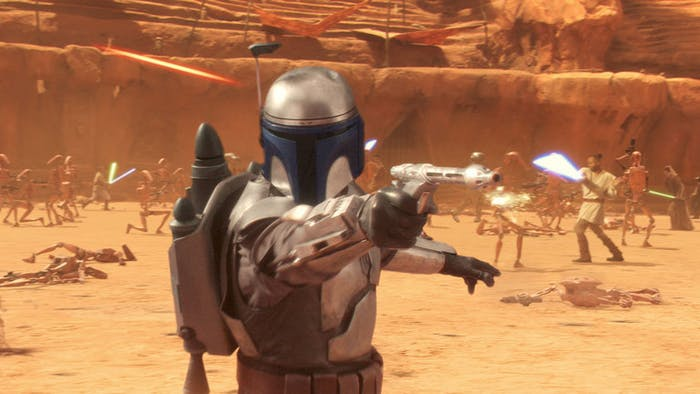 Jango Fett in 'Star Wars Episode II: Attack of the Clones'
