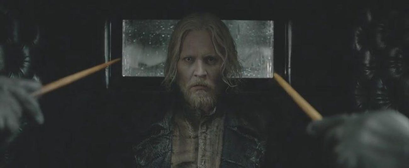 Johnny Depp as Gellert Grindelwald in 'Fantastic Beasts: The Crimes of Grindelwald'.