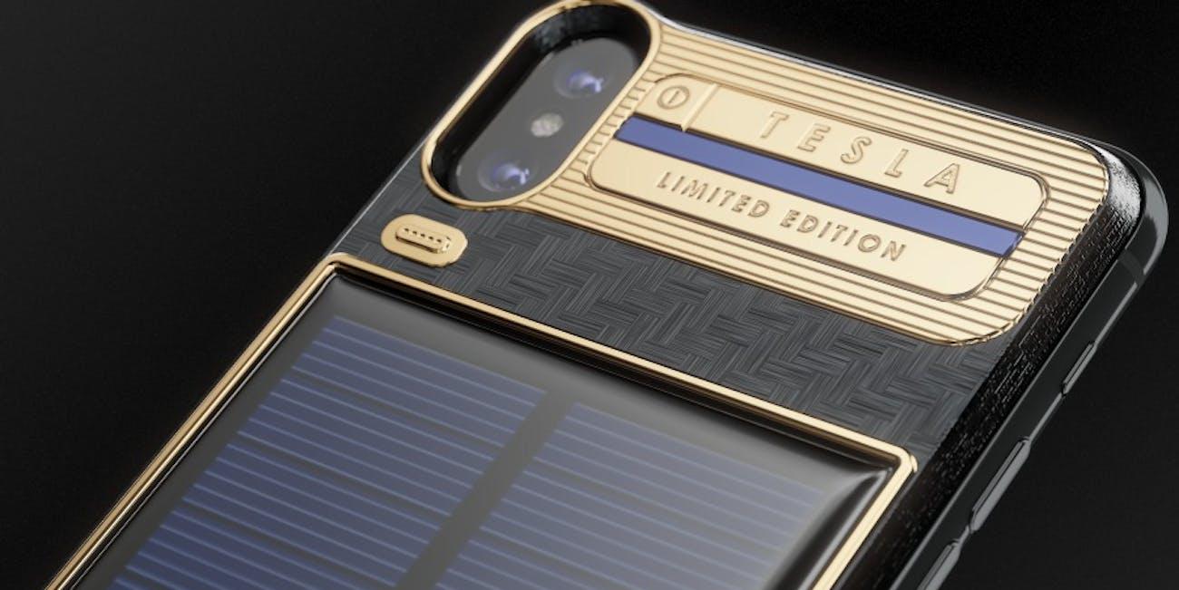 iPhone X Tesla