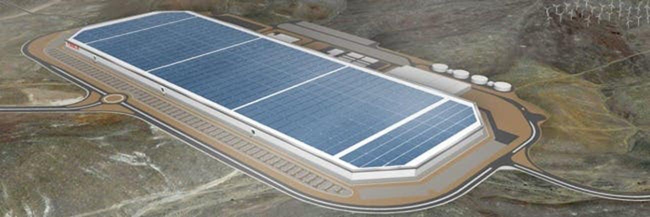 The finished Gigafactory.