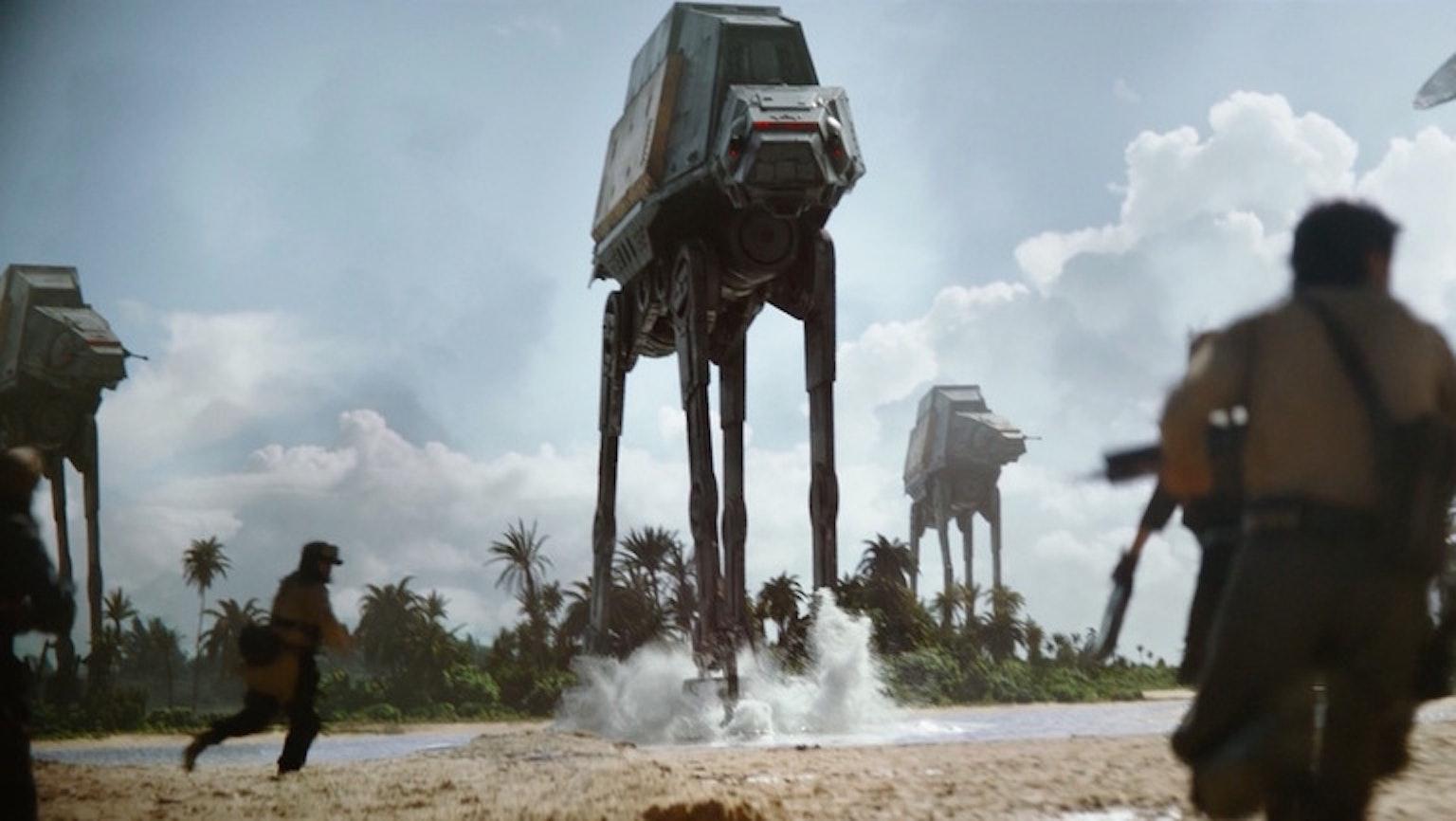 Multiple Imperial walkers.