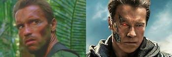 Dutch in 'Predator', Pops from 'Terminator: Genisys'