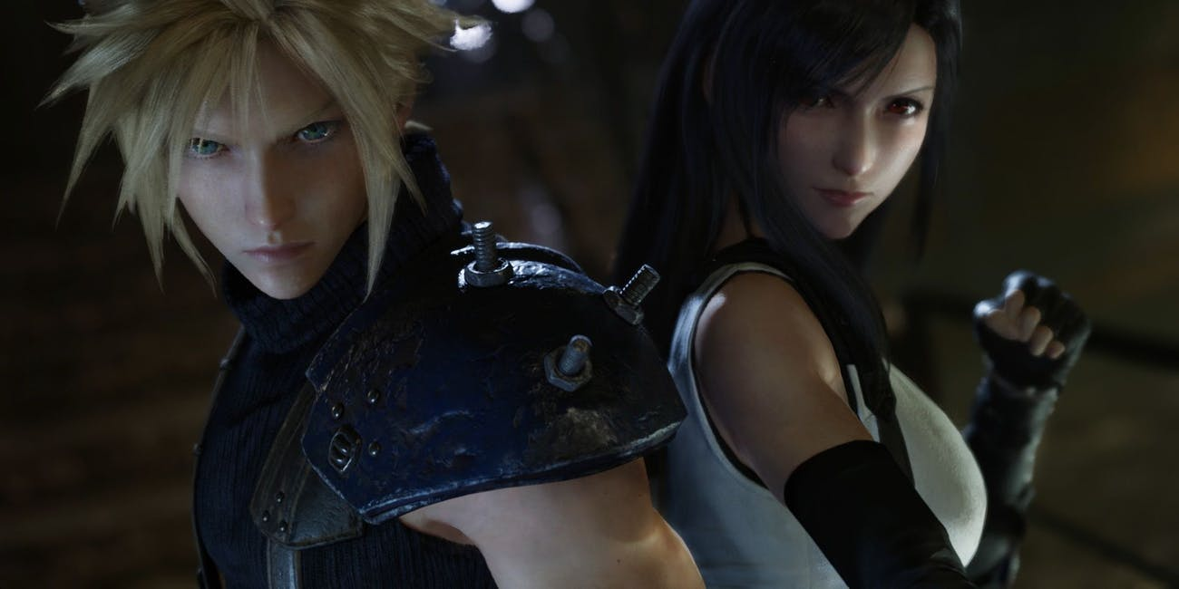 Final Fantasy VII Remake Cloud and Tifa