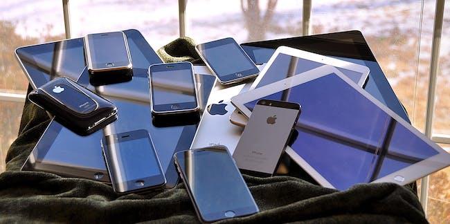 the iOS family pile (2015)