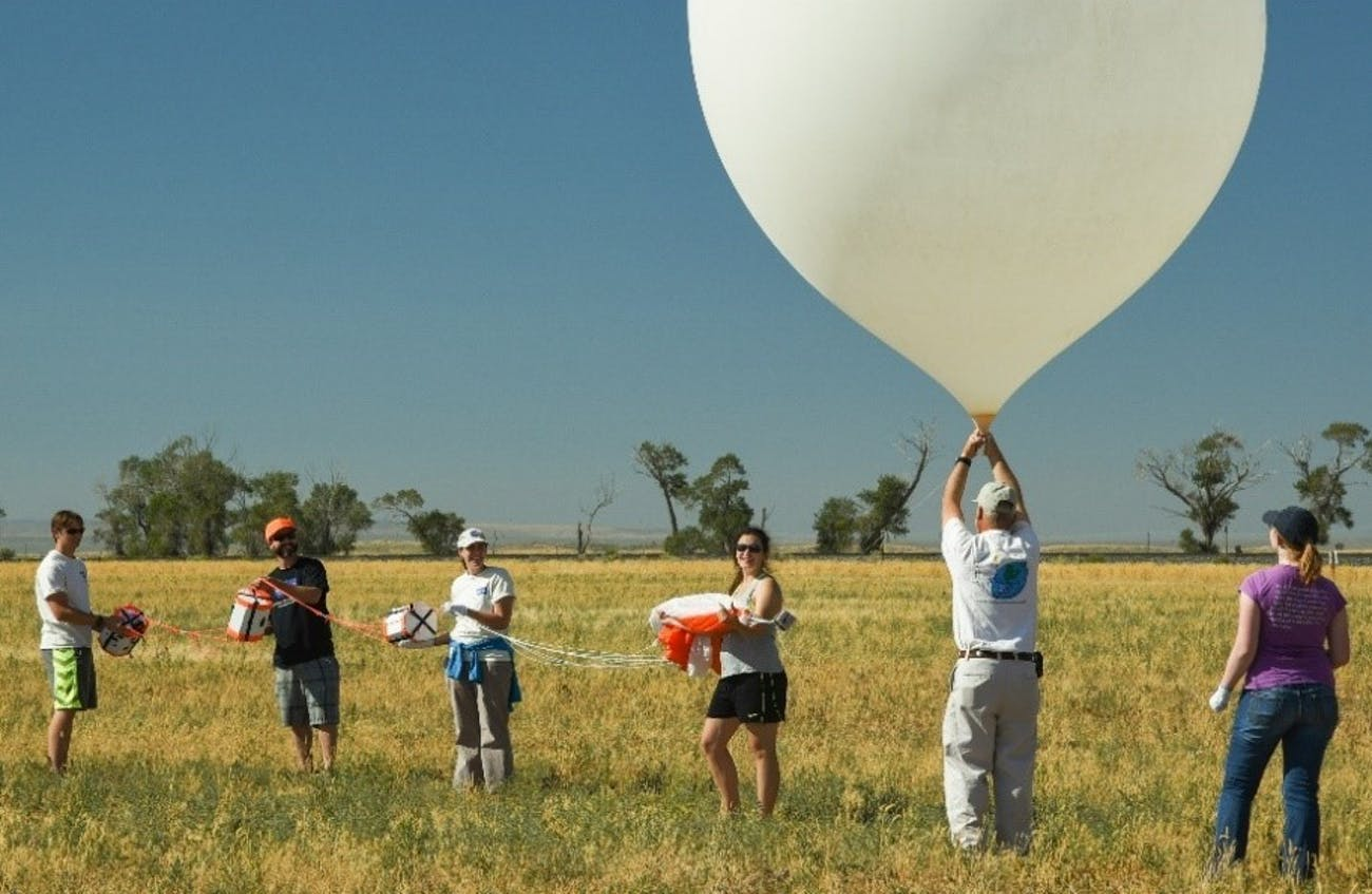 nasa solar eclipse balloon stratosphere mars bacteria conditions