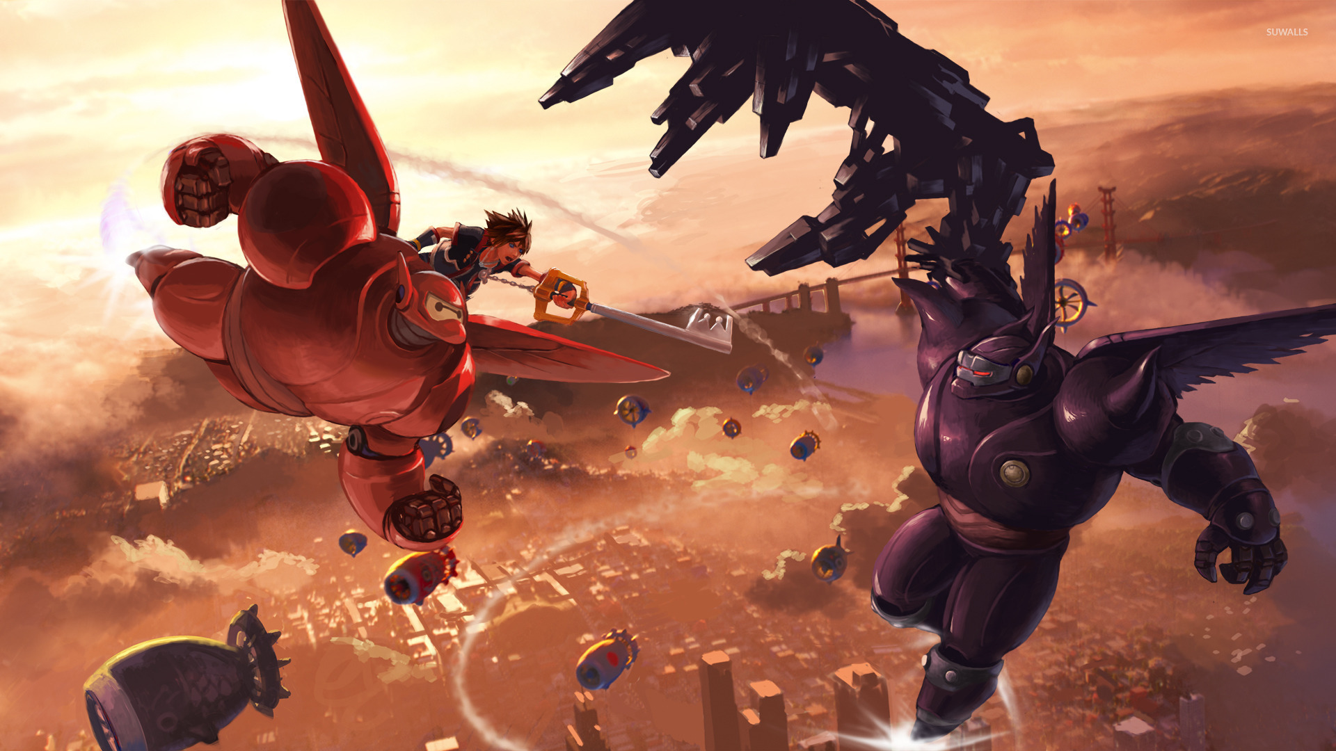 Concept art of 'Big Hero 6' in 'Kingdom Hearts 3.'