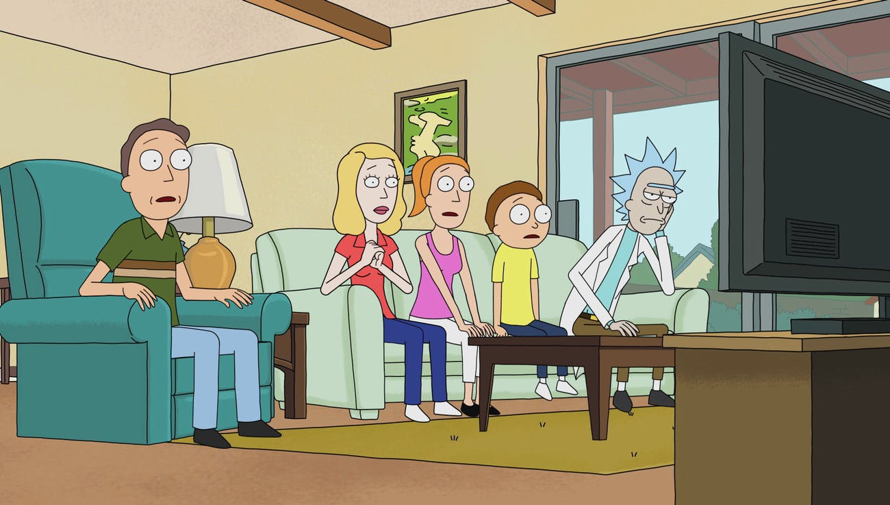 'Rick and Morty' watching TV