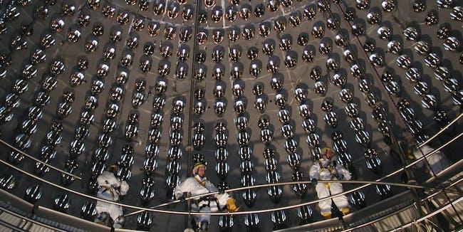 Inside the Borexino Neutrino Detector in Italy.