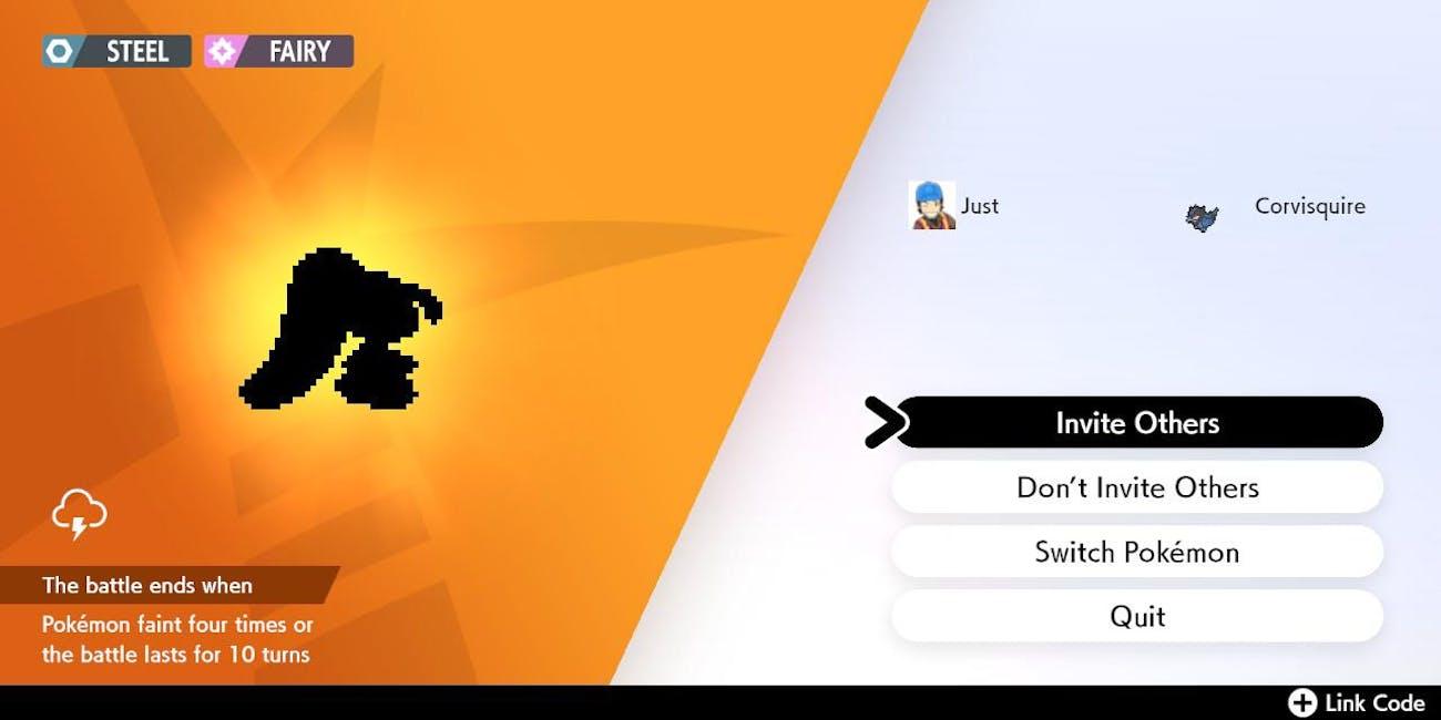 Max Raid Battle Pokémon Sword and Shield