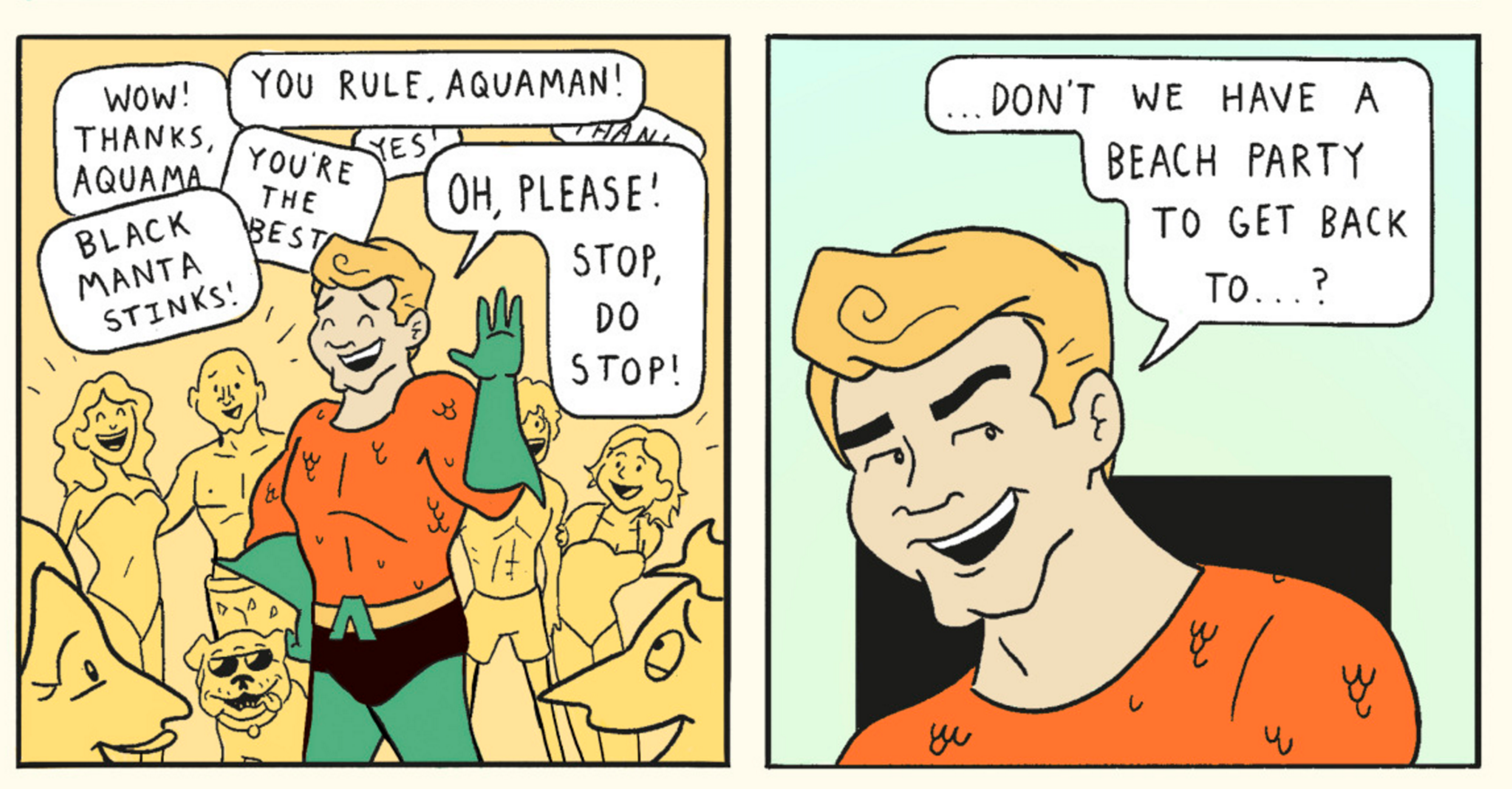 Excerpt from Aquaman's Beach Party.