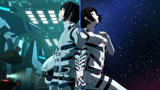 Protagonist Nagate Tanikaze and companion Izana Shinatose