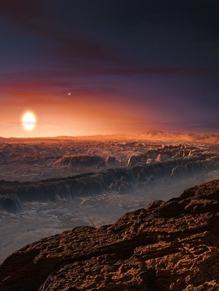 Artist's rendering of Proxima b, where METI scientists hope there might be aliens capable of deciphering our radio transmissions.
