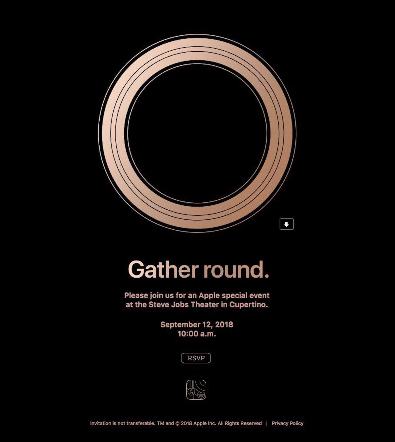 apple invites gather round