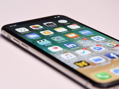 iPhone X close up