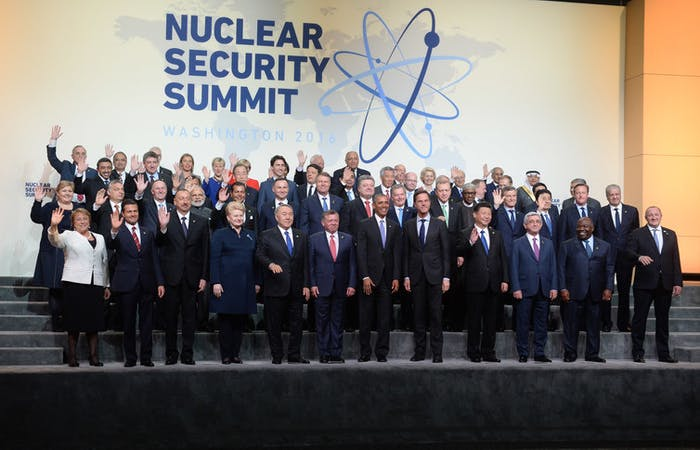World leaders at the fourth Nuclear Security Summit in Washington, D.C., April 1, 2016.