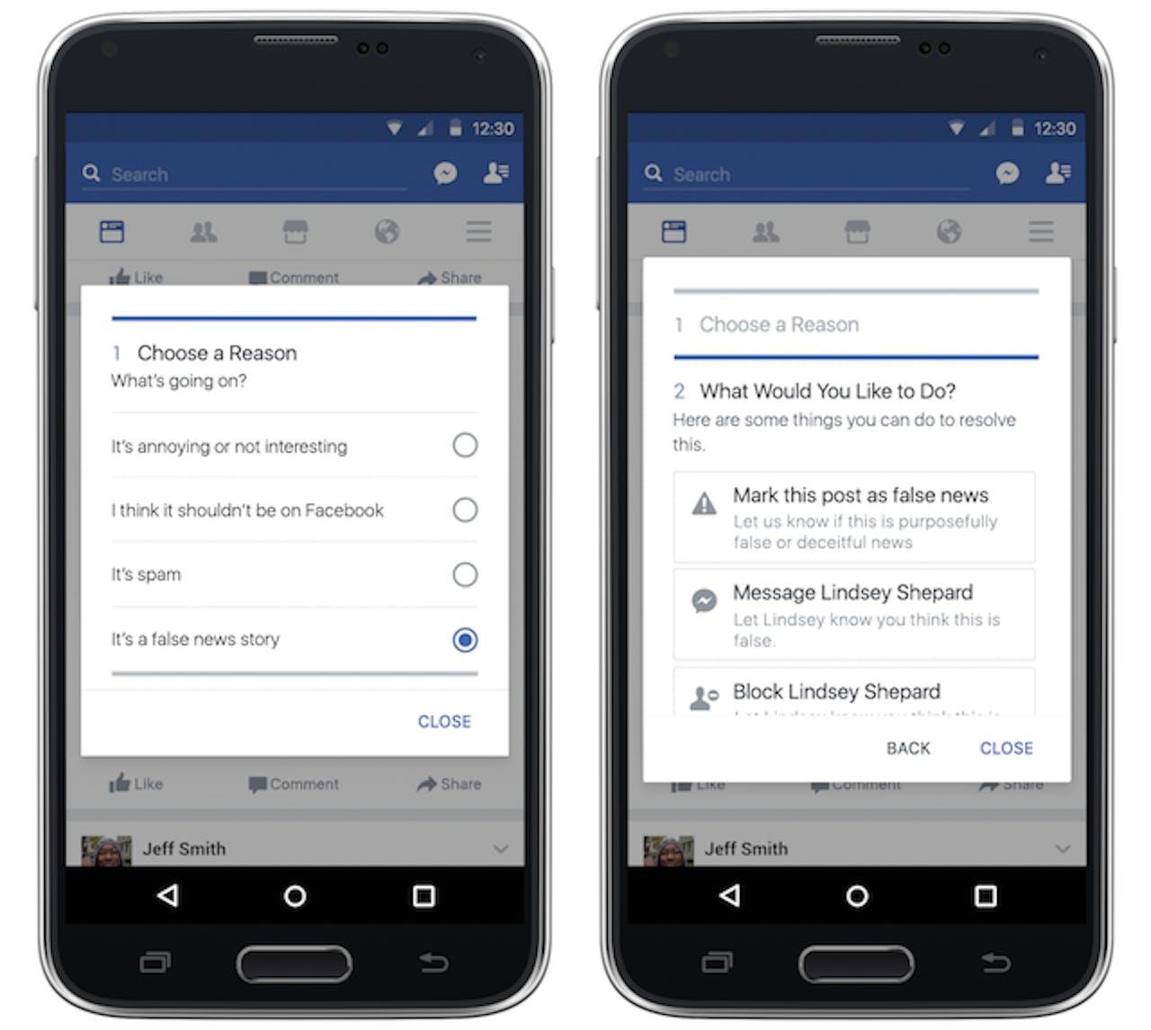 Facebook Fake News Mark Zuckerberg