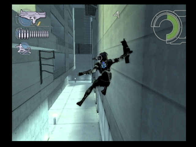 Wall-jumping allows the player-character to reach vantage points and sneak with height.