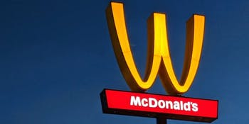 McDonald's flipped its golden arches in LA