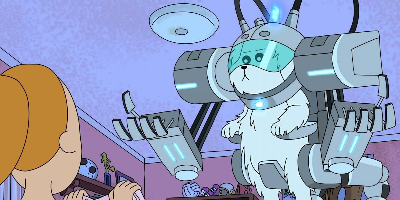Snowball, nee Snuffles, is an early Season 1 character that Justin Roiland wants to bring back in a smart way.