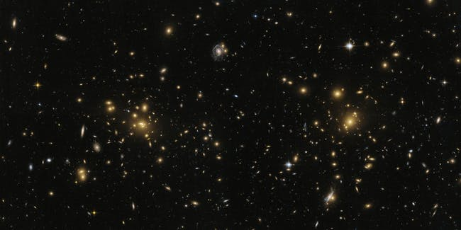 This image from the NASA/ESA Hubble Space Telescope shows the northern part of the galaxy cluster Abell 1758, A1758N.