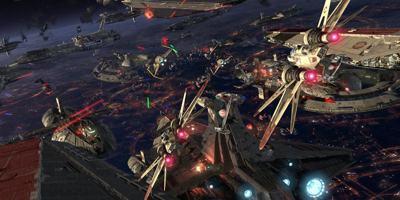 The Battle of Coruscant in 'Revenge of the Sith'
