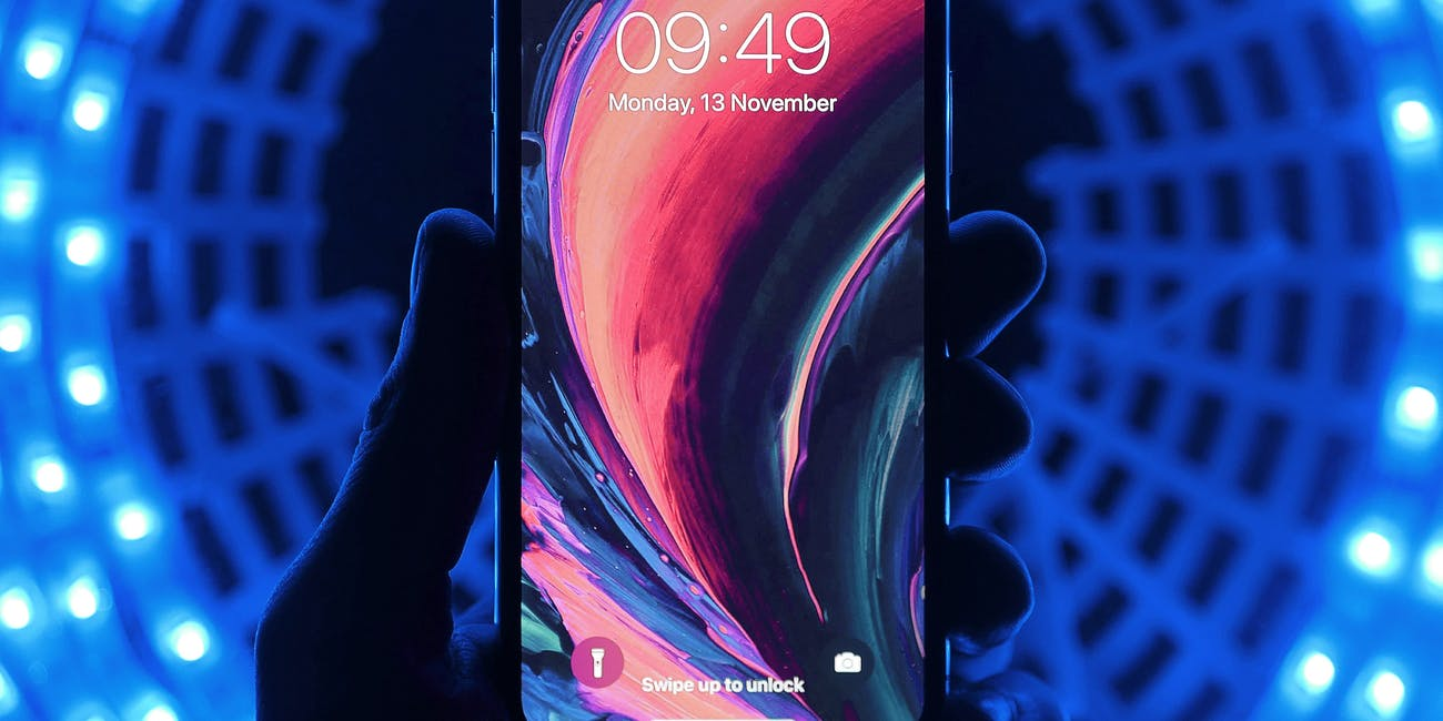 iPhone X with trippy colours