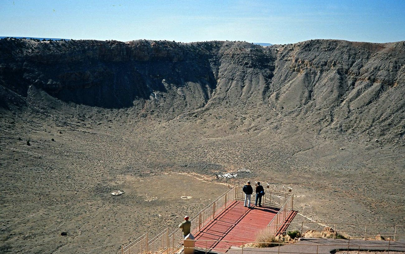 inside Canyon Diablo meteor crater