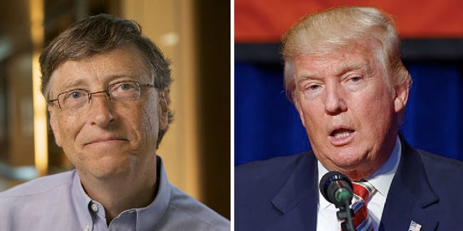 Donald Trump, Bill Gates