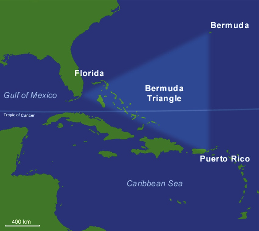 bermuda triangle map