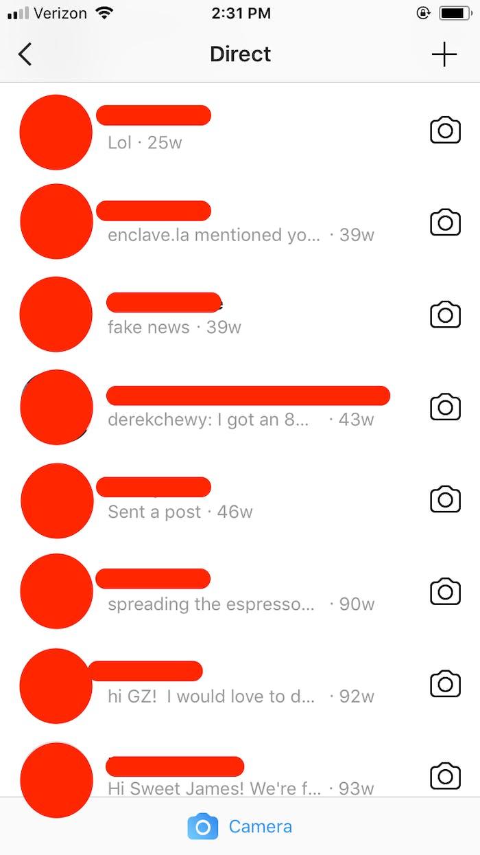 instagram, messages, activity status