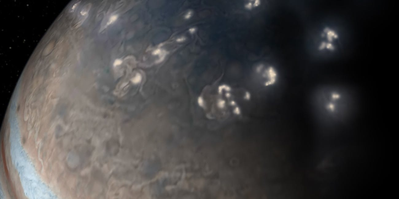 Lightning on Jupiter, which exists.