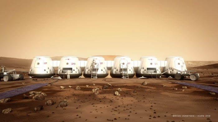 The Mars settlements proposed by Mars One