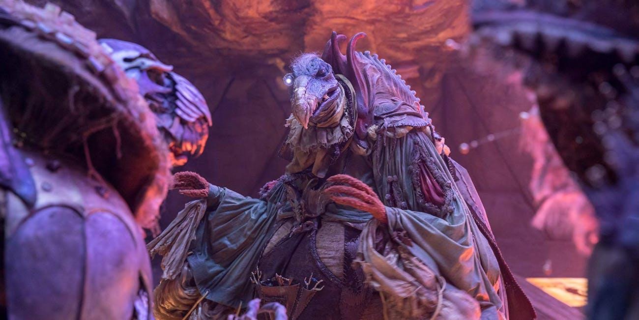 The Skeksis convene in 'The Dark Crystal: Age of Resistance'