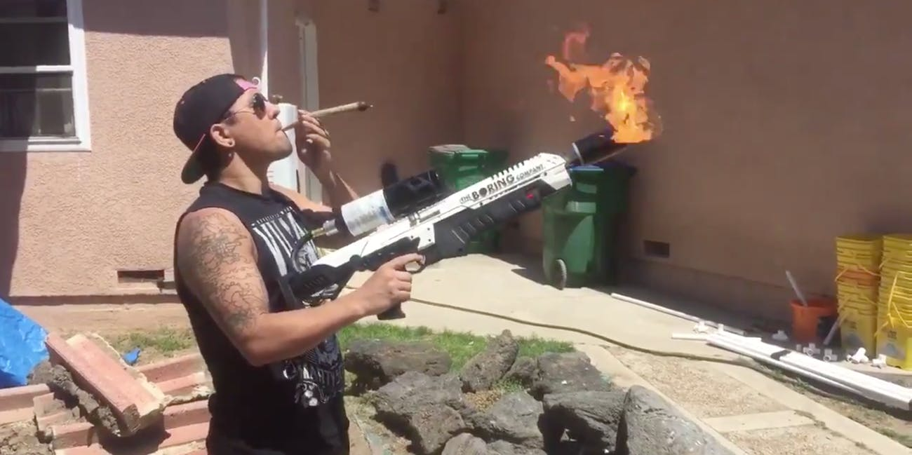 the boring company not a flamethrower 4/20