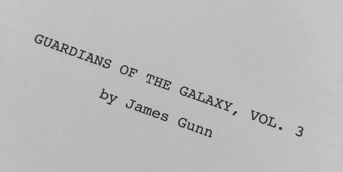'Guardian of the Galaxy vol. 3' script