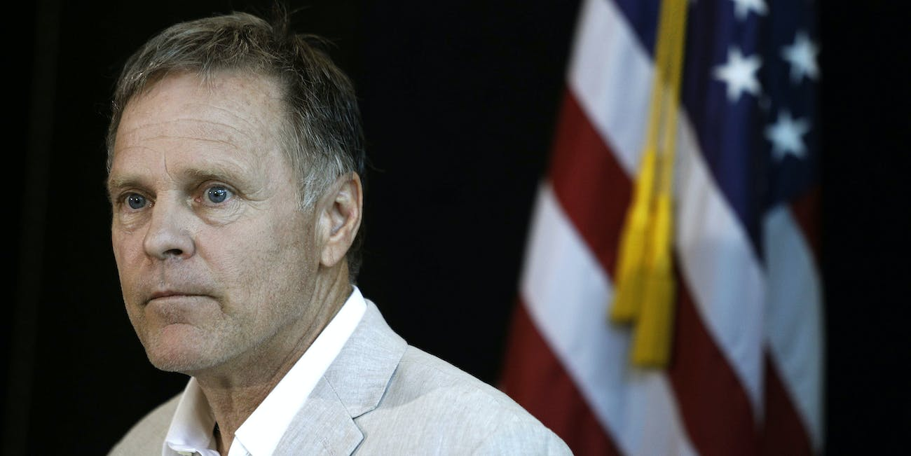 WYOMING, OH - JUNE 15: Fred Warmbier, father of Otto Warmbier, the 22-year-old college student who was released from a North Korean prison on Tuesday, holds a press conference while wearing the jacket his son wore when he gave a forced confession in North Korea June 15, 2017 in Wyoming, Ohio. Otto Warmbier spent 17 months in a North Korean prison after being sentenced to 15 years for allegedly attempting to steal a propaganda poster. Warmbier is currently in a coma at the University of Cincinnati Medical Center. (Photo by Bill Pugliano/Getty Images)