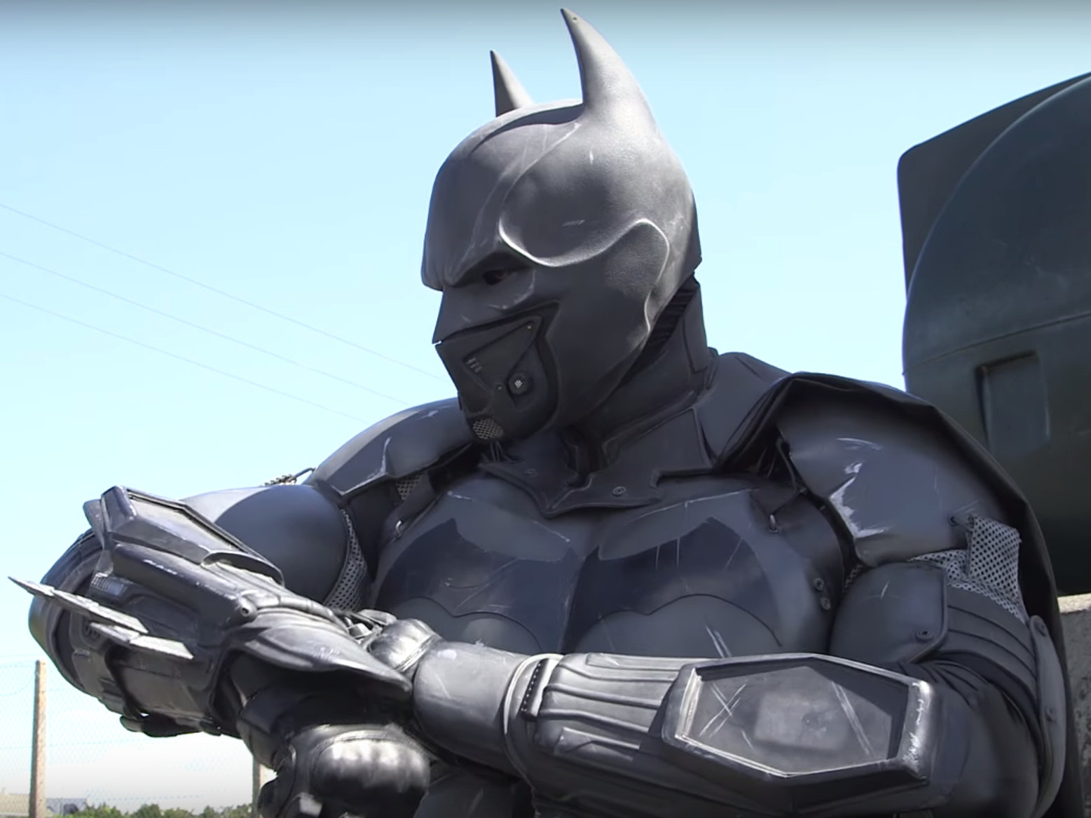 Julian Checkley, a Guinness World Record holder for most functional gadgets on a cosplay outfit.