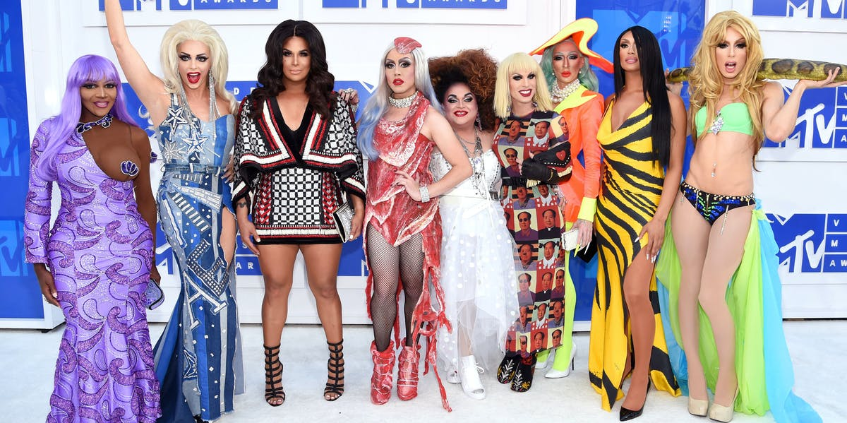 The queens from 'Rupaul's Drag Race All Stars' attend the 2016 MTV Video Music Awards.