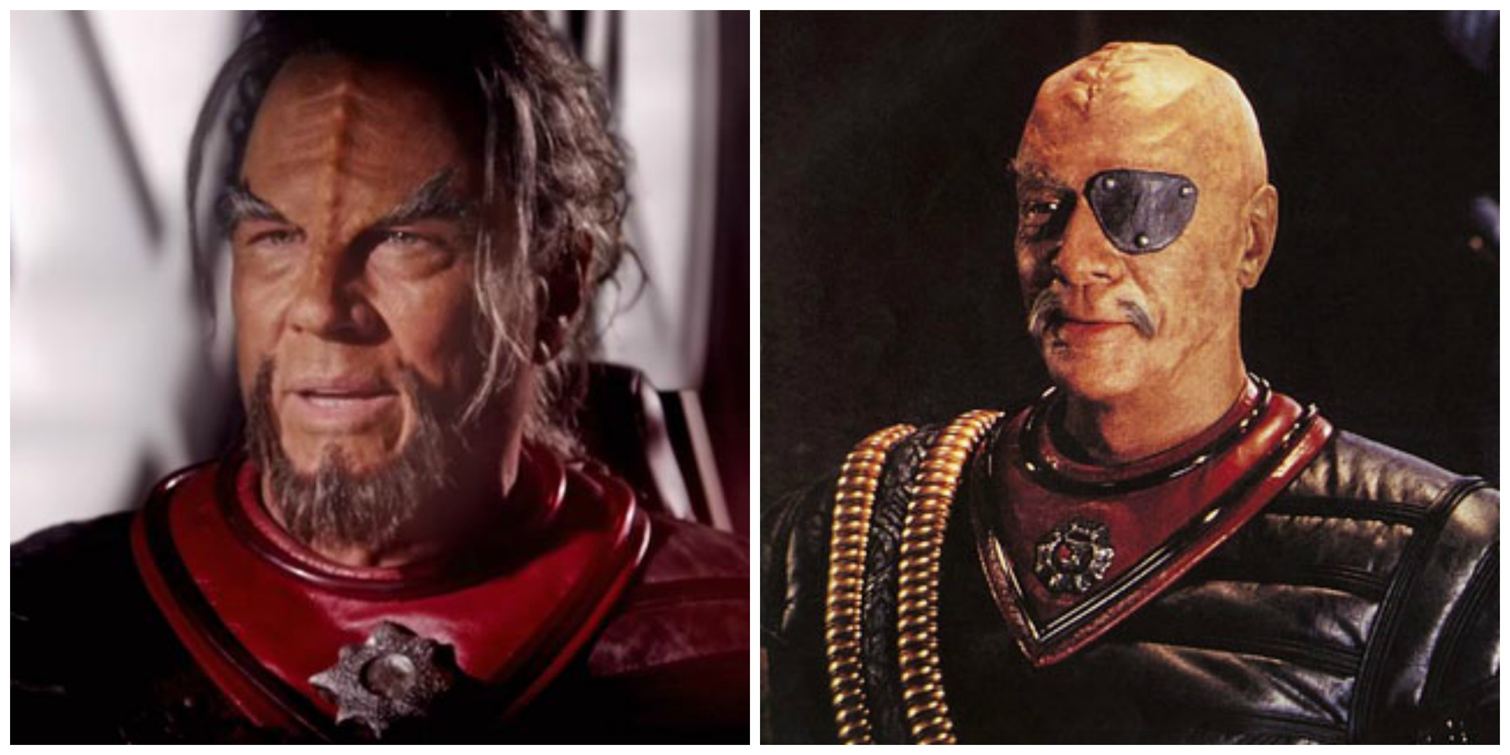 LEFT: Richard Hatch as a Klingon in 'Axanar.' RIGHT: Christopher Plummer in 'Star Trek VI: The Undiscovered Country'