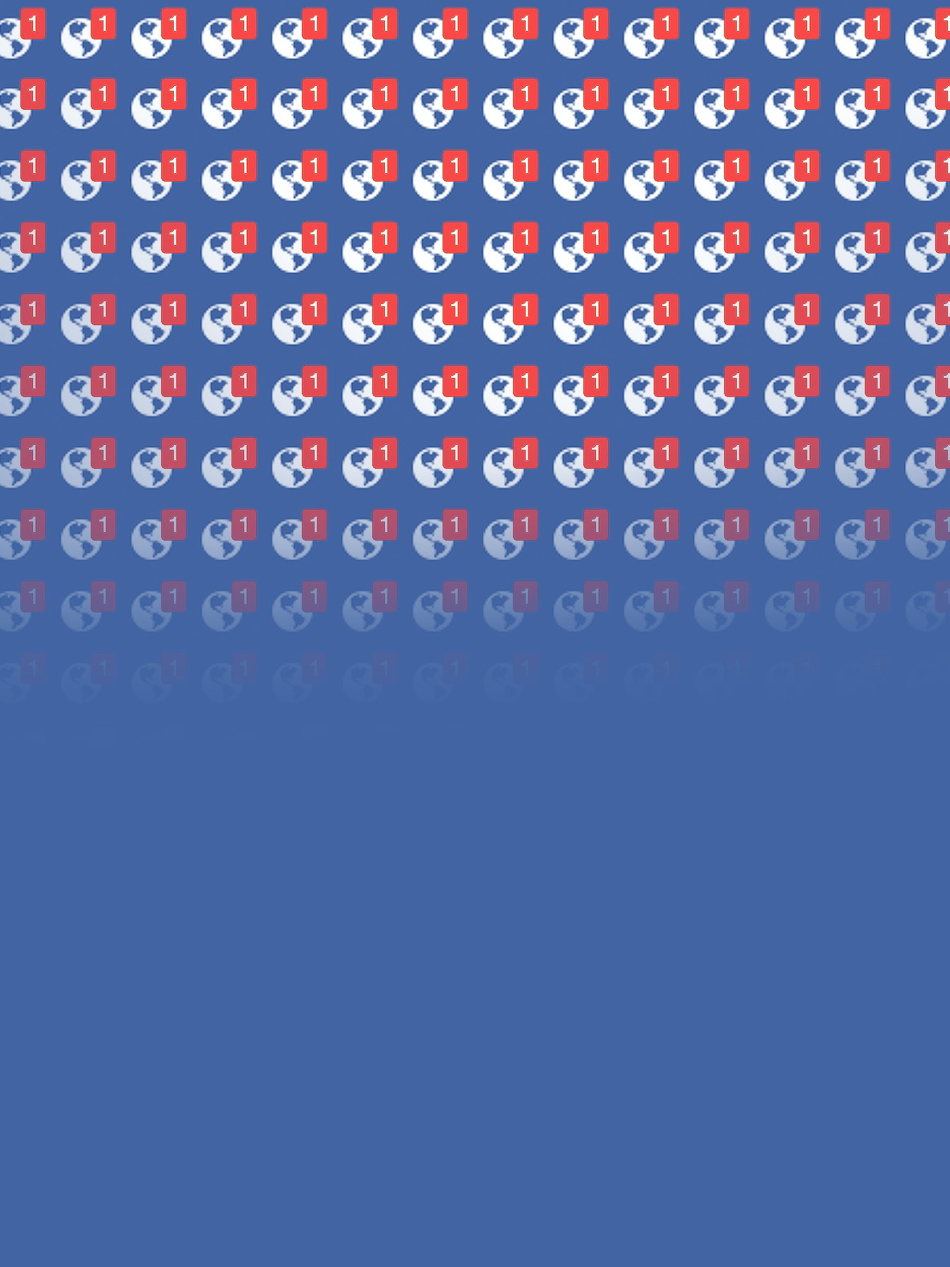 Facebook notification wallpaper