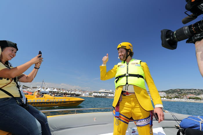 CANNES, FRANCE - MAY 16: T.J Miller arrives at 'The Emoji Movie' photo call at the start of the 70th Cannes Film Festival at The Carlton Pier on May 16, 2017 in Cannes, France. (Photo by Neilson Barnard/Getty Images for Sony Pictures)