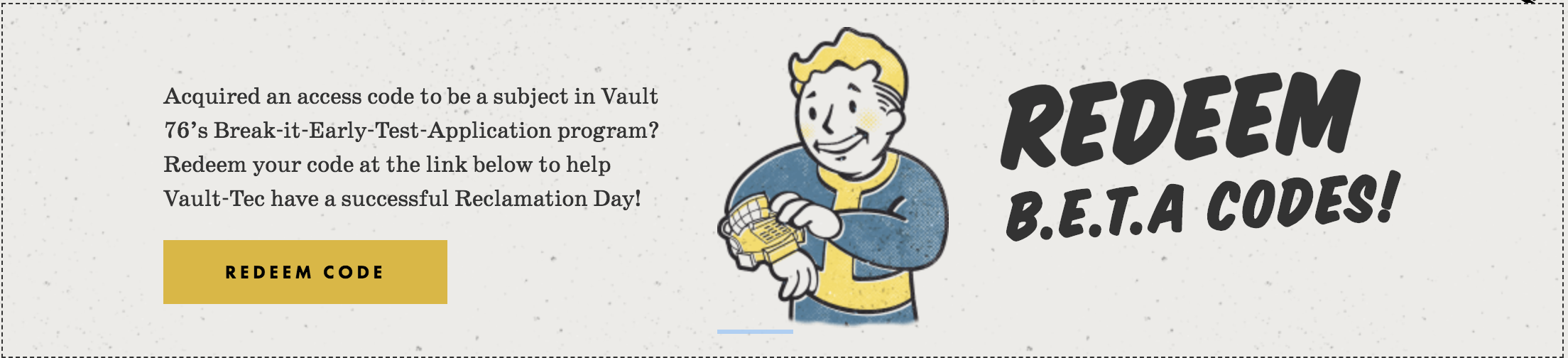 Fallout 76 Beta Release Date: Codes Are Going Out, But Watch