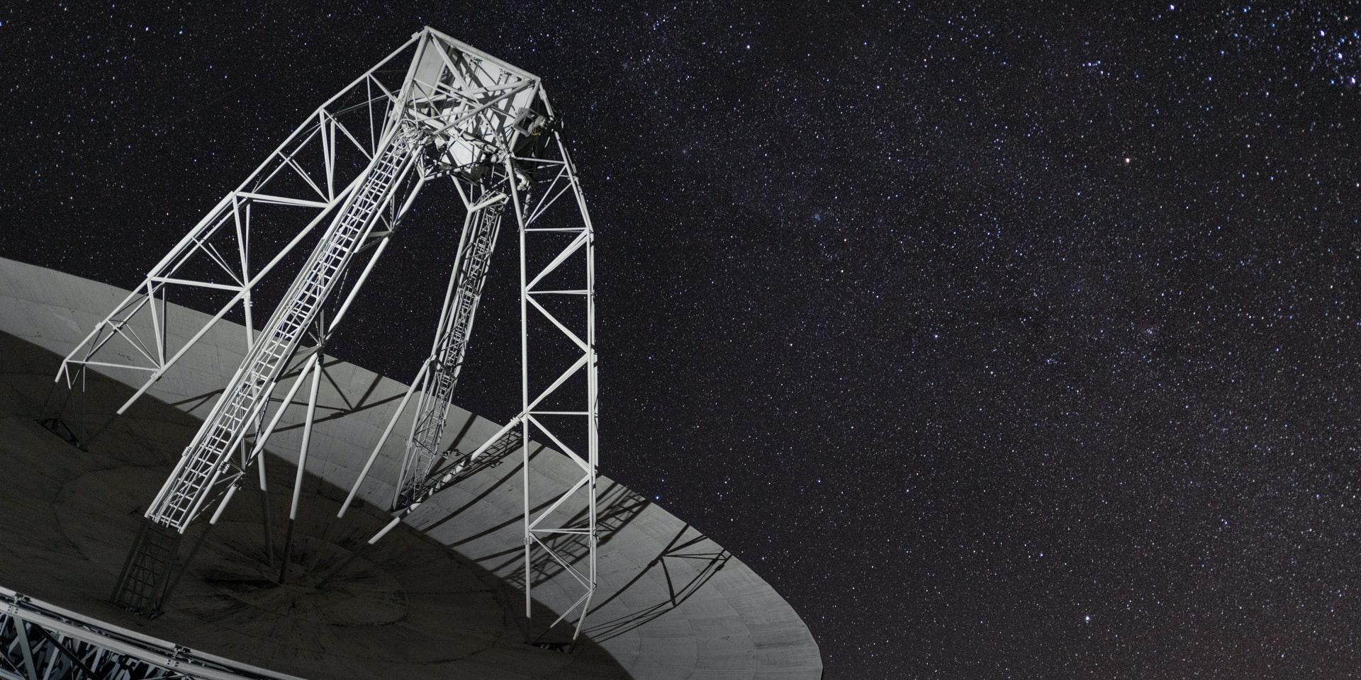 26 meter satellite dish, 26E, at the Pisgah Astronomical Research Institute in North Carolina.