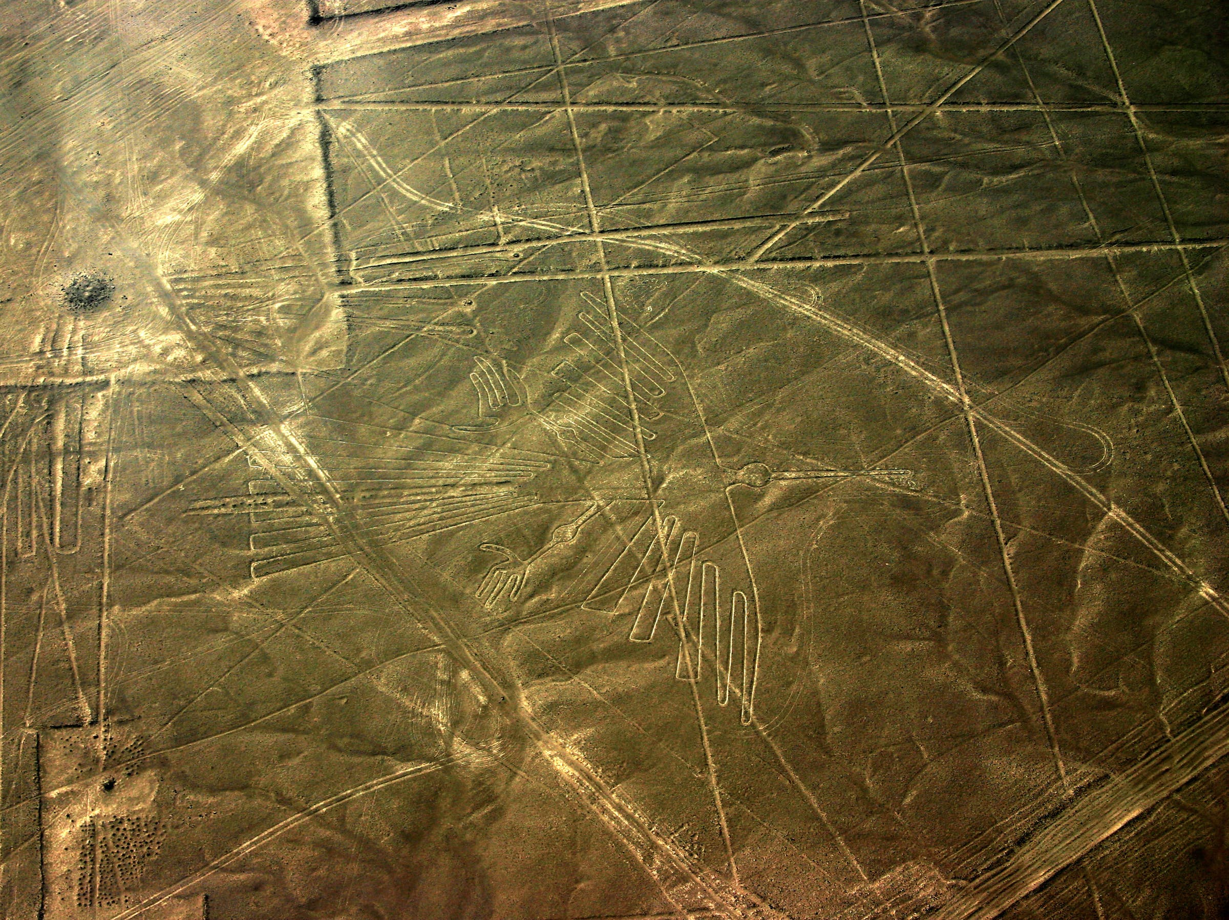 """""""The Condor"""" at the Nazca lines."""