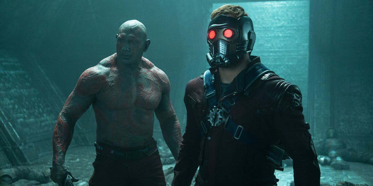 Guardians of the Galaxy Peter Quill Star Lord Dave Bautista