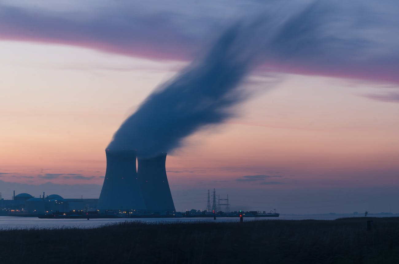 A nuclear power station.