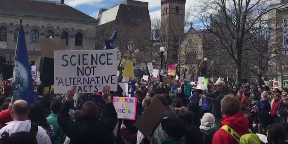 Boston stand up for science rally february 19 2017 trump standupforscience