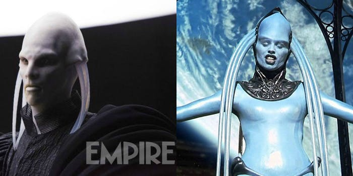 Dan Makta from 'Valerian' and Diva Plavalaguna from 'The Fifth Element' look incredibly similar.